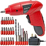 SPARES2GO Mini Cordless Rechargeable Electric Screwdriver Bit Set   Drill