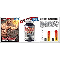 Goldfield - Turbo Red Devil | Muskelaufbau Muskelblaster - Muskel Trainings-Booster 60 Kapseln mit Maca , Tribulus , Guarana , L-Arginin