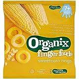 Organix Aliments Doigt Maïs Doux Anneaux 7 + Mois Etape 2 20G - Lot De 2