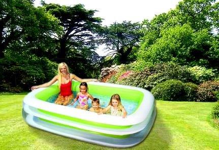 Planschbecken FAMILY Pool 260 x 175 cm Schwimmbecken INTEX