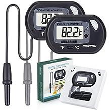 Acuario Termómetro, risepro® 2 Pack Digital termómetro de agua para Fish Tank Acuario Marino