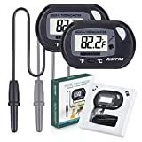 Aquarium Thermomètre, Risepro® Lot de 2 Digital Thermomètre de l'eau pour Fish Tank Aquarium marin Température vivarium Reptile Terrarium