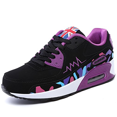 PADGENE Ladies Trainers Women's Sports Running Shoes Air Max Sneaker Running Jogging Trainers for Girls