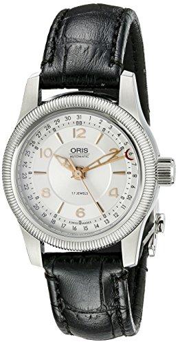 Oris 58476264061LS da donna grande corona puntatore guilloche argento quadrante orologio
