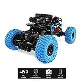 ZMH Ferngesteuertes Auto 4WD Geländewagen 2.4G Mit Luft-WiFi-Kamera-Echtzeit-Bildübertragung Dual-Modus-RC-Auto-Spielzeug,Blue