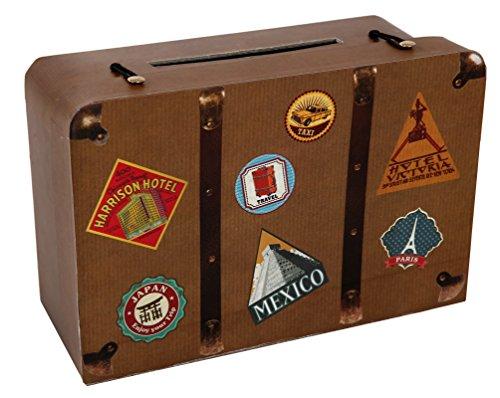 Hucha con diseño de maleta
