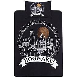 Juego De Cama Blanco Y Negro 135x200 Harry Potter Harry Potter
