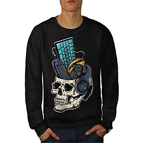 Schädel Gaming PC Geek Herren L Sweatshirt | Wellcoda