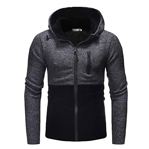 Camouflage Kapuzenjacke Herren Briskorry Männer Herbst Winter Reißverschluss Kapuzenshirt Pullover Patchwork Sweatshirts Strickjacke Mantel Outwear Bluse Tops