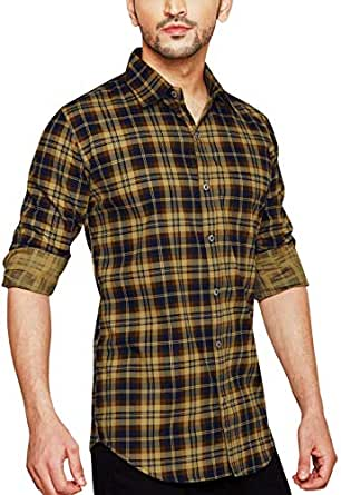 Go Stylish Mens Checks Casual Shirt (GS-8025 Red Checks)