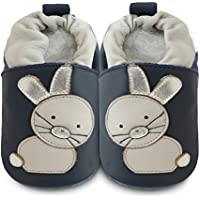 0b15e087db068 Shooshoos - Chaussons souples cuir Rabbit Go Hop