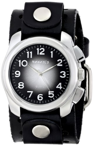 Nemesis BN091K - Reloj de pulsera hombre, piel, color Negro