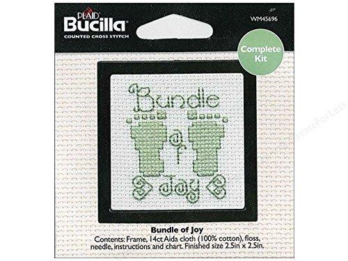 Bucilla Cross Stitch Kit Beginner Mini Bundle of Joy by Bucilla -
