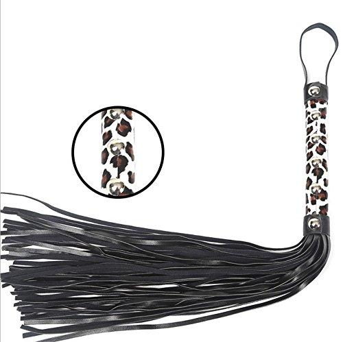 Soft Premium Leder Floggers und Whips Crop Jump Bat Bull Whip Cosplay Zubehör, mit Einem Pull-Ring