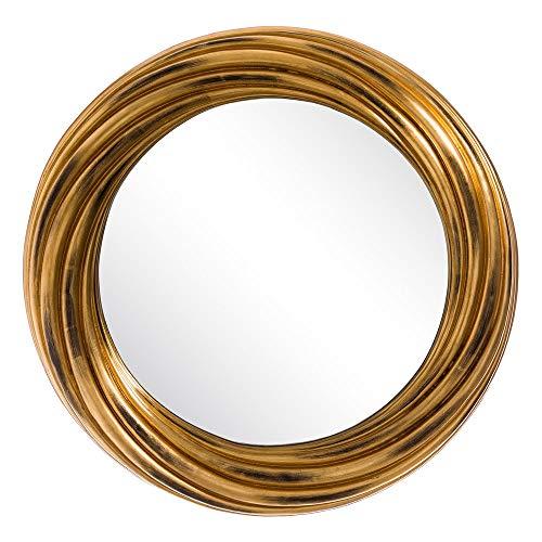 Espejo Sol de PU Dorado Minimalista para salón de 83 cm Bretaña - LOLAhome