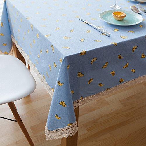 MQZM Aggiungere atmosfera accessori per la casa Tessuto di cotone e biancheria da letto Biancheria da tavola Tovaglie e graziosa sala per bambini tovaglia blu,90*90