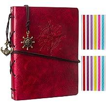Woodmin Superior Navigazione Theme in Pelle di Mucca Fai da te 60 Pagine Album Fotografico, Anniversario Scrapbook, Regalo di Nozze