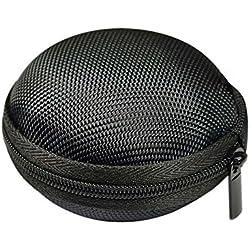 Hosaire Housse Protection pour casque à écouteurs Pochette Case avec fermeture Housse Portable de Voyage Pour casque à écouteurs, MP3,Chargeur, Câble USB, Avec une poche nette à l'intérieur-Noir