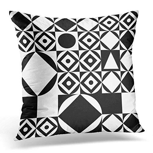 Nifdhkw Kopfkissenbezüge White Stripe Pattern Black Hand Rough Abstract Decorative Pillow Case Home Decor Square 18x18 inches Pillowcase - White Stripe Kopfkissenbezug Set