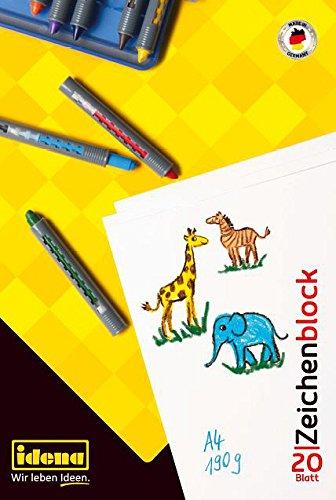 Idena 10381 Zeichenblock FSC-Mix, A4, 20 Blatt, 190 g/m² - Kunst Block