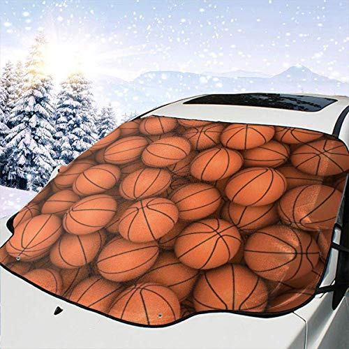 Kejbr Art Basketball Front Car Sonnenschutz Frontscheibe Foldable Snowproof Car Front Window Sonnenschutz Auto Shade for Most Sedans SUV Truck - Auto Frontscheibe Protector, Keeps Vehicle Cool