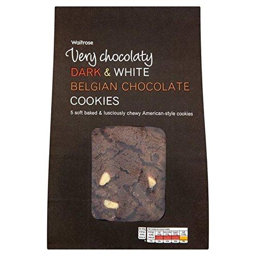 Dunkel Und Weiß Belgischer Schokolade Cookies Waitrose 5 Pro Packung (Packung mit 4) (Dunkle Schokolade-cracker)