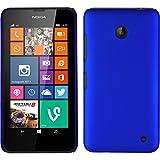 PhoneNatic Custodia Rigida Compatibile con Nokia Lumia 630 - gommata Blu - Cover + Pellicola Protettiva