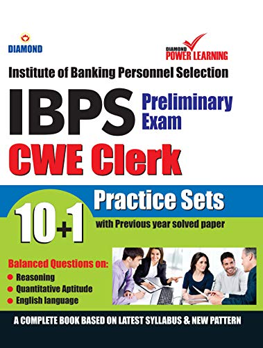 Institute of Banking Personnel Selection (IBPS) CWE Exam 2019 (CLERK), Preliminary examination, in English with previous year solved paper (बैंकिंग कार्मिक चयन संस्थान - क्लर्क)