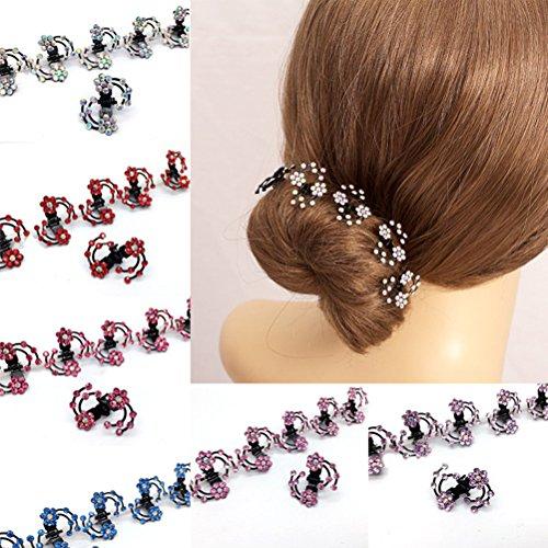 cuhair New 30Stück Kristall Strass Hochzeit Frauen Girl Haar-Clip Haarspange Haarspange Haar Zubehör