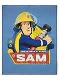 Feuerwehrmann Sam Teppich 95cm x 125cm für das Kinderzimmer - Kinderteppich The Hero mit dem beliebten Feuerwehrmann Sam