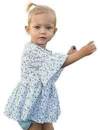 Bebe Niñas Logobeing Vestido de Mangas Cortas Con Estampado de Faldas de  Verano Para Niñas Pequeñas 6f067844520