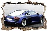 Pixxprint 3D_WD_S1646_62x42 eleganter Audi Wanddurchbruch 3D Wandtattoo, Vinyl, bunt, 62 x 42 x 0,02 cm