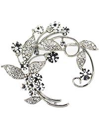 Jodie Rose 16628 - Broche de mujer de metal con cristales