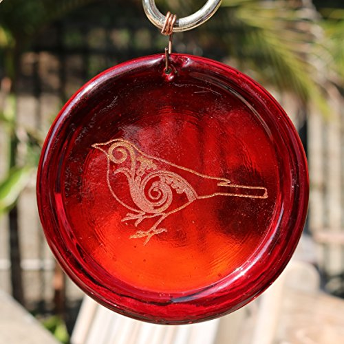 4-Zoll-geätzt Paisley Vogel Suncatcher aus unserer Valentinstag Kollektion-Made in den USA. Ein großartiges Geschenk Für Jeden. Colorful Sonnenfänger bringen ein Zimmer oder View to Life. rot