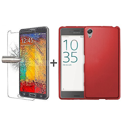 tboc-pack-red-tpu-silicone-gel-case-tempered-glass-screen-protector-for-sony-xperia-xa-f3111-f3113-f