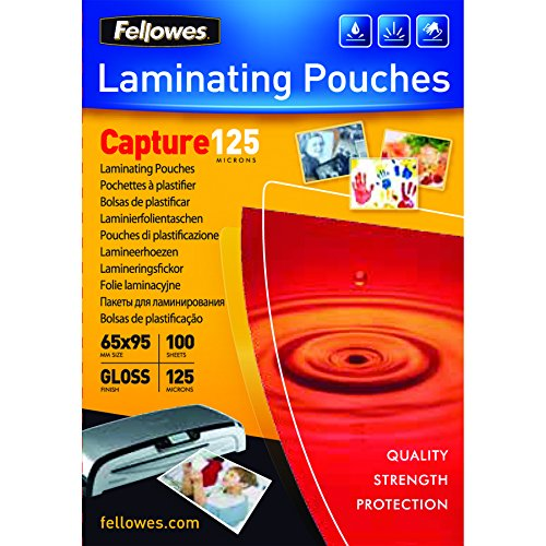fellowes-capture-65x95mm-125-micron-glossy-laminating-pouches-pack-of-100