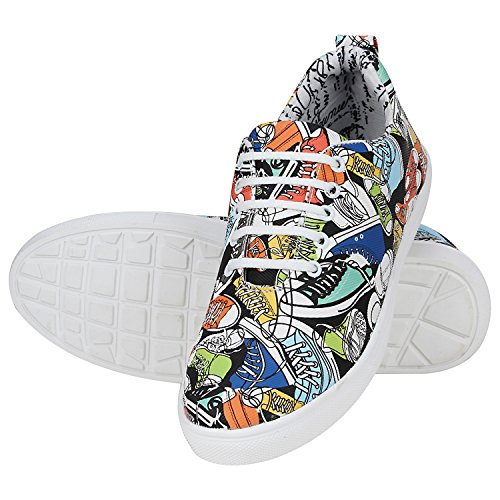 Kraasa Men's Multicolor Synthetic Sneakers - 9
