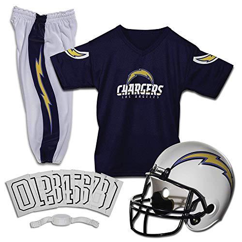 genduniform - NFL Kinderhelm, Jersey, Hose, Kinnriemen und Bügelnummern inklusive - Fußballkostüm für Jungen und Mädchen ()