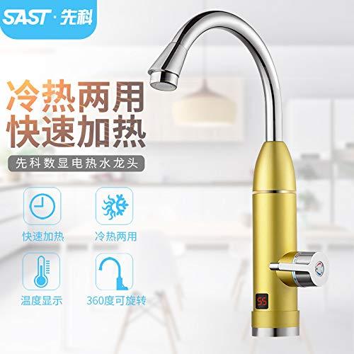 KXLK Durchlauferhitzer Armatur, Heiße Art Schnelle Heizungs-Küchen-elektrischer Warmwasserbereiter-Badezimmer-Dusche LCD-Anzeige 360 Grad-Drehung (Liner Inner Dusche)