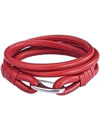 Rafaela Donata Unisex-Armband Edelstahl Leder 60907024