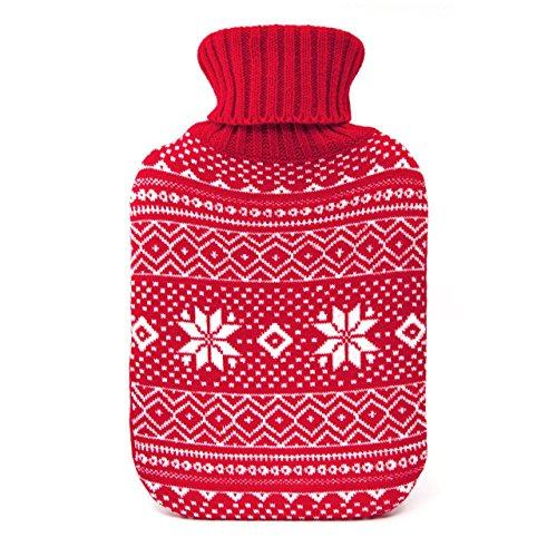 Cassandra Wärmflasche in abnehmbarer Strick-Bezug. NORDIC Style Design. Hergestellt nach britischen Norm bs1970/2012. 5Jahre Garantie. Farbe erhalten variiert. 1,8Liter X