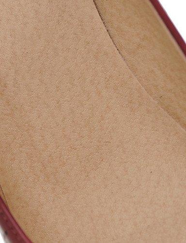 Imitação Bailarinas Uk4 Femininos Outddor Salto De Vermelho Zq De Planas Sapatos De us6 Preto L Vestido Couro Eu36 Ssig Calçados Redondo Vermelho Amarelo Cn36 wBfxEq8