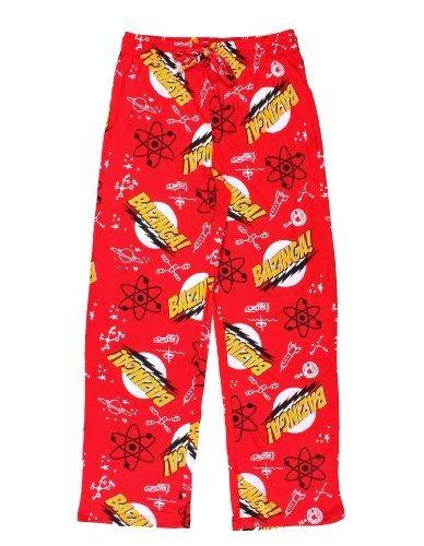 The Big Bang Theory Big Bang Theory Bazinga! Lounge Pants (Small, Red) (Big Bang Theory Kostüm)