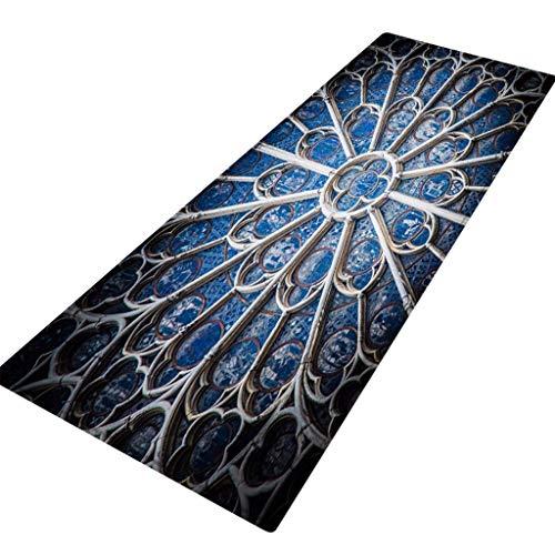 YWLINK Notre Dame De Paris FußMatte Teppiche Mit Quadratischem Muster Wohnzimmer Schlafzimmer Teppiche rutschfest Atmungsaktiv Teppiche 40X120CM LäUfer Teppiche Flur