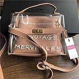 XUZISHAN Design Luxus Frauen Transparenter Tasche Durchsichtige PVC-Gelee Kleine Tote Messenger Bags Weiblichen Crossbody Umhängetaschen, Rosa
