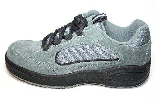 Jela 7052enfants fille garçon chaussures basses chaussures Vert - Gris bitume