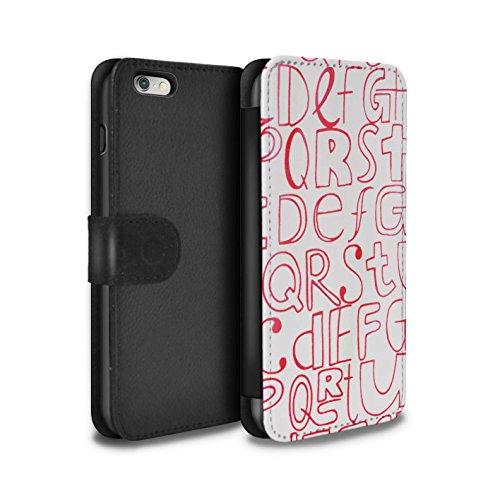 Stuff4 Coque/Etui/Housse Cuir PU Case/Cover pour Apple iPhone 6S / Motif de Corail Design / Textiles Maison Collection Lettres Maison
