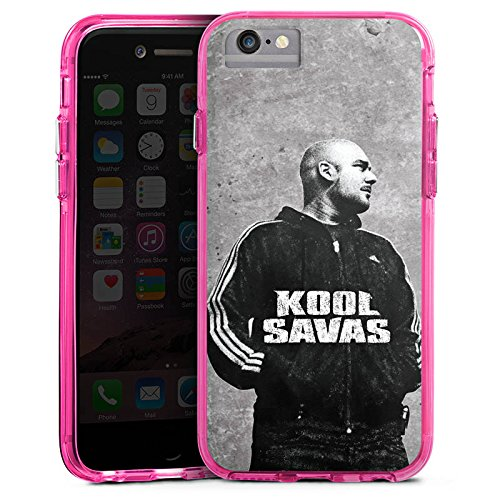 Apple iPhone 7 Plus Bumper Hülle Bumper Case Glitzer Hülle Kool Savas Fanartikel Merchandise Merchandising Pour Supporters Bumper Case transparent pink