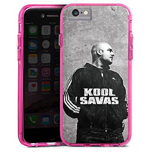 Apple iPhone 7 Plus Bumper Hülle Bumper Case Glitzer Hülle Kool Savas Fanartikel Merchandise Merchandising Pour Supporters Bumper Case transparent pink