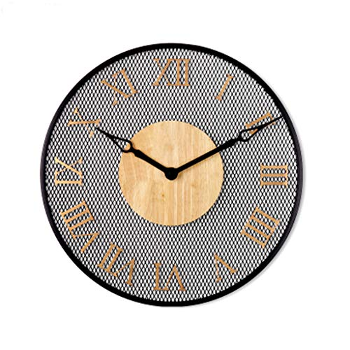 JXL Runde Große Wanduhr, Vintage Wall Clockhome Dekor Wand Uhrrestaurant Wohnzimmerwand Clocksilent Wand Uhrplastik Wanduhr,B